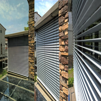motorized external venetian louver outdoor aluminium blind