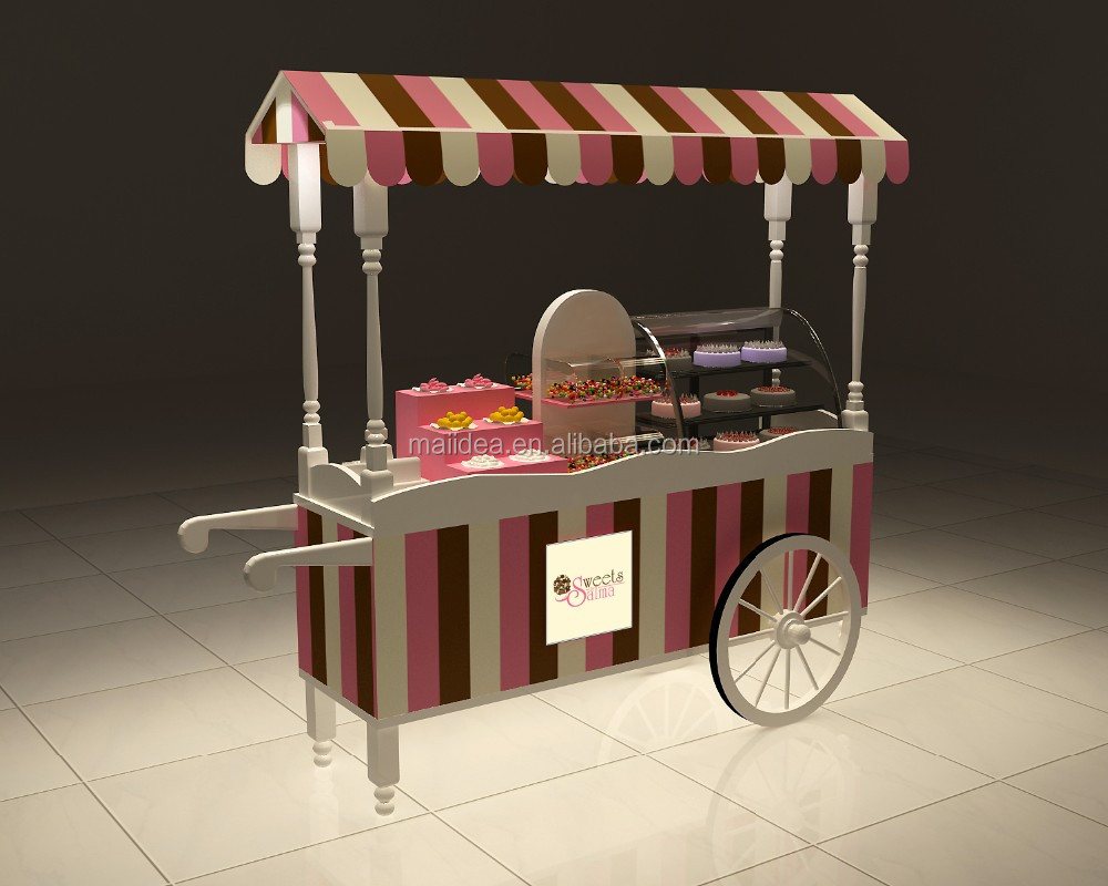 Best Selling Biking Food Cart Stainless Juice Cart With