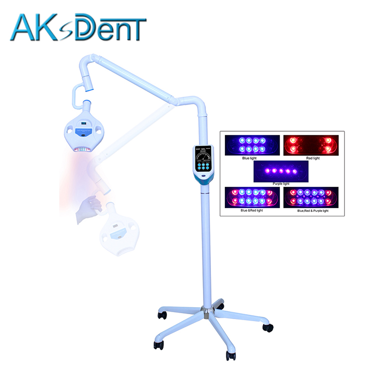 AKsDenT D7HH Tandheelkundige 3 Kleur LED tanden whitening lamp tanden bleken led light Teeth whitening Machine