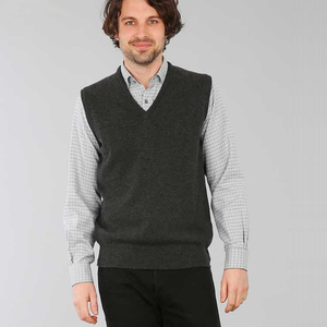 V Neck Sleeveless Pullover Men Cashmere Vest