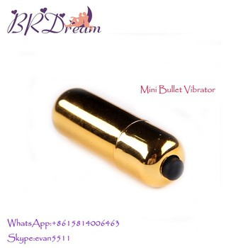 Mini Yellow color toy power small sex bullet vibrator for woman