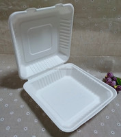 Biodegradable To Go Clamshell Lunch Bento Box Non Foam Food Container