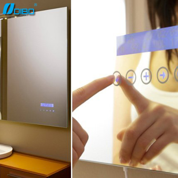 Bathroom Smart Mirror With MP3 Bluetooth Radio Clock Temperature