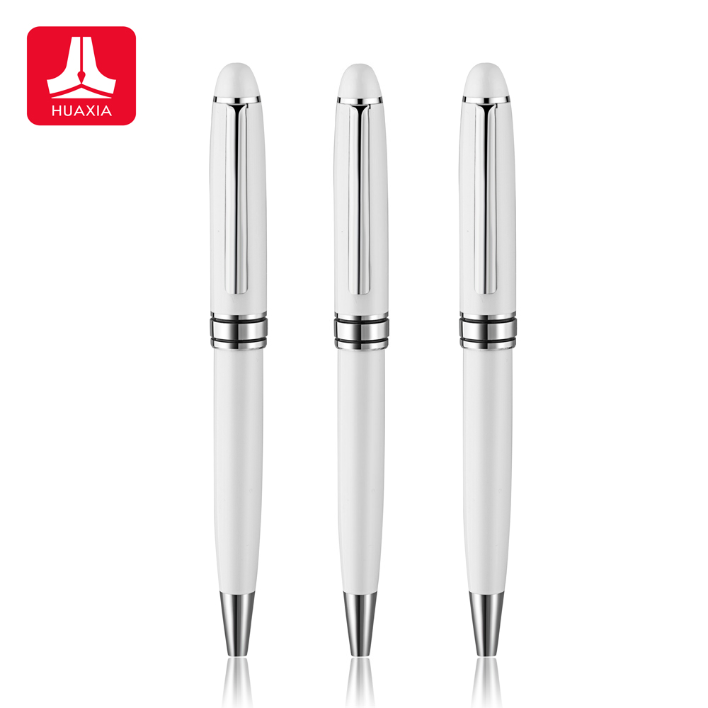 High Quality Brands Pearl White Ballpoint <strong>Pen</strong> with Custom Logo