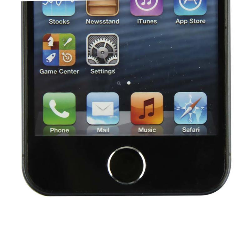 Привлекательный 2 шт. черный + 2 шт. белый металл алюминий для дома пуговица клавиатура наклейка для iPhone 5 5S JE24