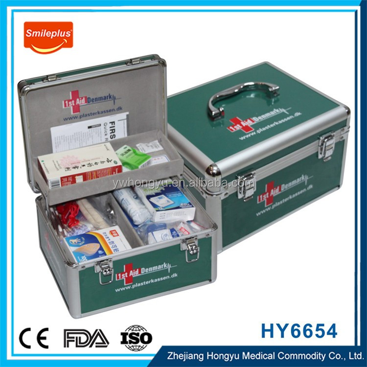 Square First Aid Kit Tin Box/Printed As Your Request , First Aid Kit With Lock