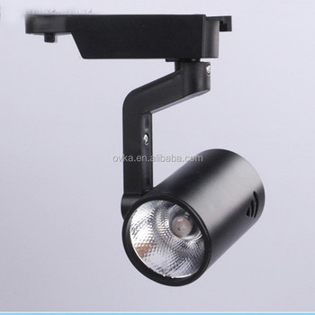 Black Color 30w Led Track Lighting System High Cob Spotlight For Commercial Light Product