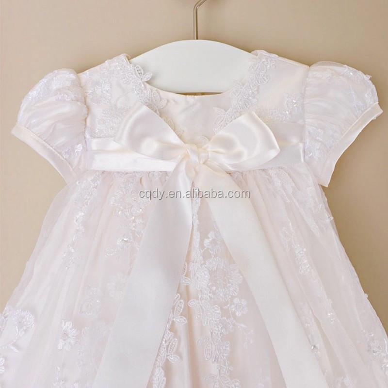 Erstkommunion Kleid Vintage Kurzen ärmeln Applique Baby Mädchen Taufe Kleider Weiß Beige Taufe Bogen Kleid Buy Jungen Taufkleidschöne Kurzen