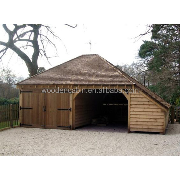Professionele supply prefab houten carport auto garage