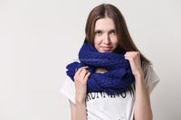 winter fashion knitted cashmere shawl