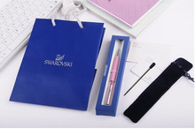 new Swarovski crystal pen with gift box case handbag and pouch bag lady student lovely crystals stellar Pen