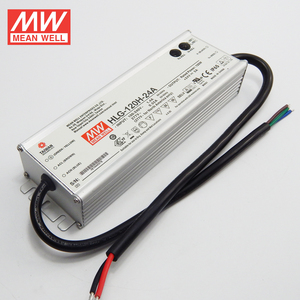 New and original meanwell 110vac 220vac 277vac to 24vdc 120W led driver /  power supply IP65 aluminum case HLG-120H-24A