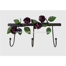 Handmade Antique 3D rose chic Powder Coating Iron Clothes Cloth Hook/robe hook hanging hooks
