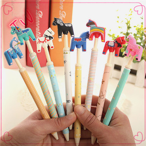 Top quality 0.5mm ballpoint pen funny cute animal shape flat ballpoint pen,customized logo erasable ballpoint pen for office