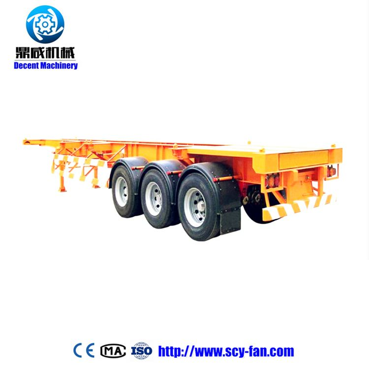 China manufacturer 2 axle lowbed flat bed truck trailer for sale