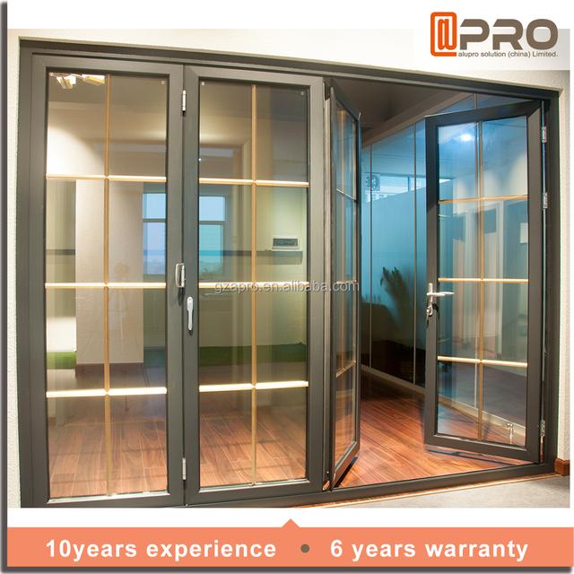 Aluminium Frame Single Glass Folding Door Bathroom Folding Door For Diy  Aluminium Toilet Folding Door Lowes