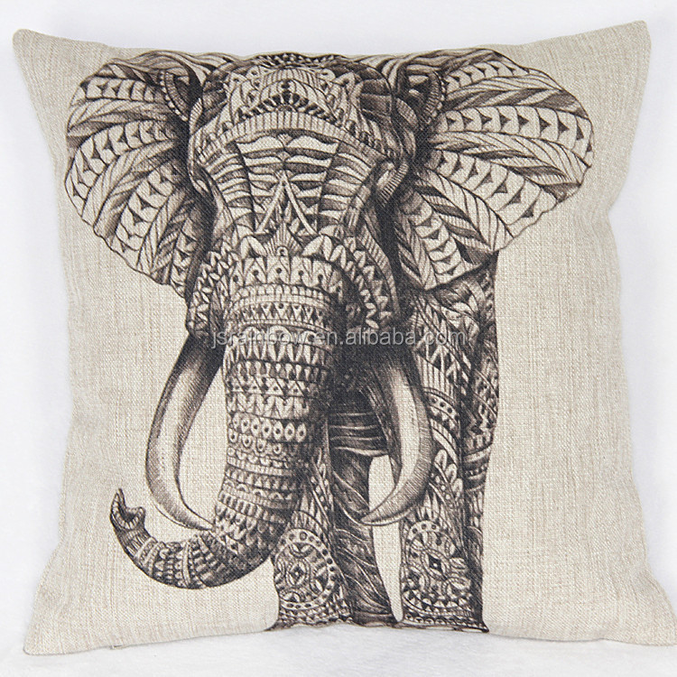 Canvas Pillow Covers Wholesale Sofa Set Designs And Prices Animal Elephant Decorative Pillow ...
