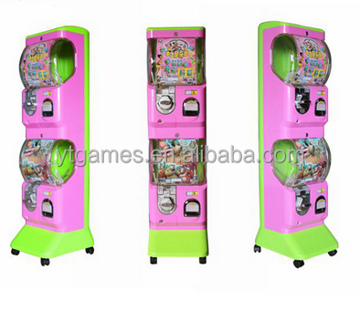 Custome Plastic capsule toy bouncy ball machine cashapon machine