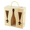 Wooden wine glass gift boxes/wine glasses packaging boxes wholesale
