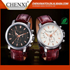 Top Selling Classic Style Quartz Wrist Watch Leather Strap Watches For Men