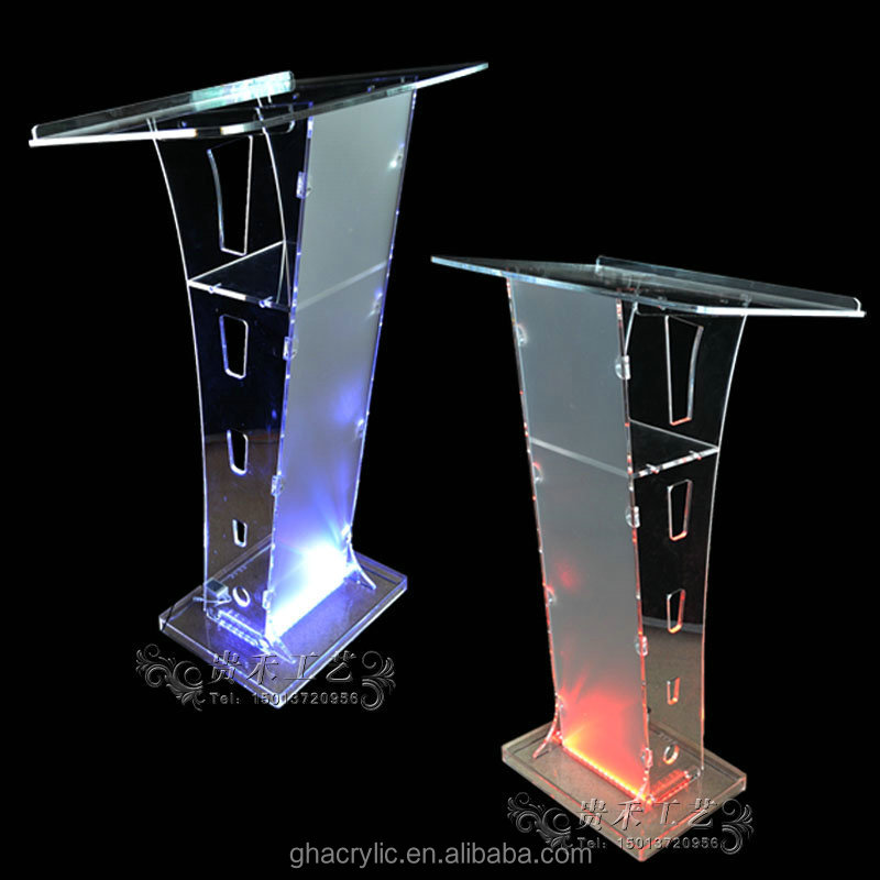 clear acrylic podium plexiglass podium with led light buy lecture podium cheap church podium. Black Bedroom Furniture Sets. Home Design Ideas
