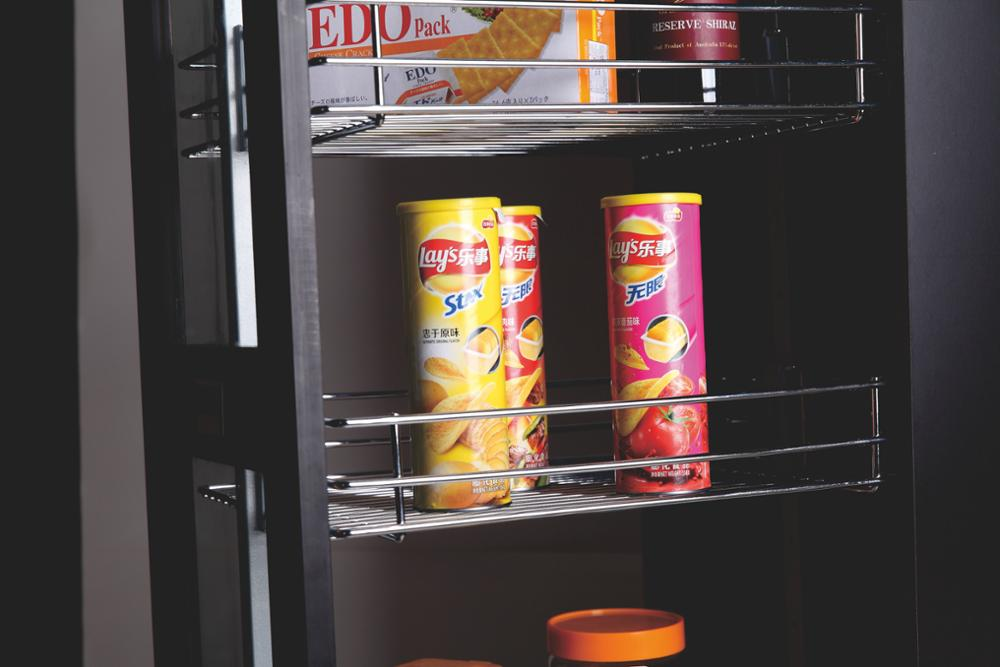 Pull Out cabinet sliding basket wire baskets For Kitchen Storage