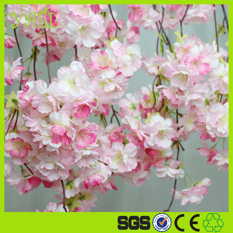 New Design High Quality wall hanging artificial flowers types of ornamental plants