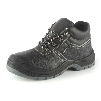 7de44501 China manufacturer OEM brand cheap genuine leather house safety shoes steel  toe ,wholesale work boots