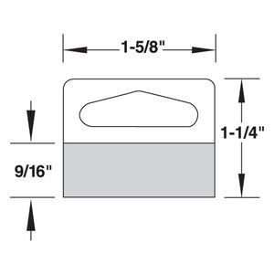1 5/8 x 1 1/4 Custom Hang Tabs , Pack of 100