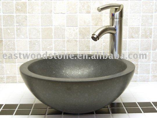Banheiro Pia de Pedra Cinza EscuroPias para banheiroID do produto325568679 -> Pia Banheiro Cinza