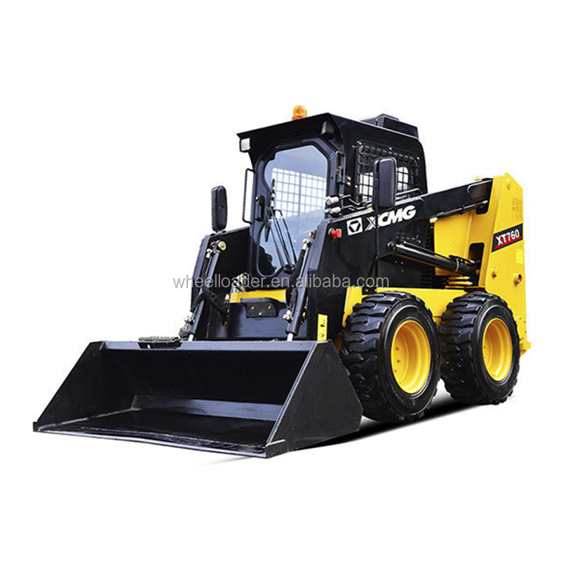 China XT760 1.1Ton Skid Steer Loader with Attachments for Sale