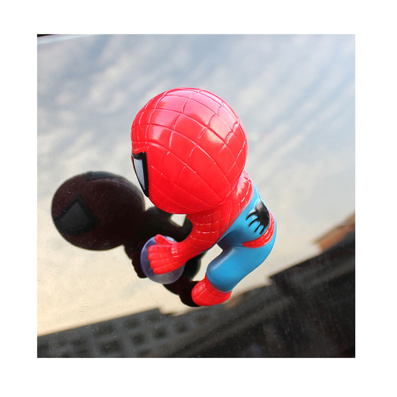Spider Man Kids Toys Climbing Spiderman Window Sucker for Spider-Man Doll Car Home Interior Decoration Action Figure