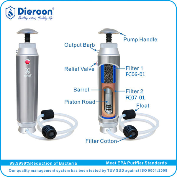 1e3d491519 D-Hot sale Diercon travel portable water bottle microfilter active carbon bottle  filter 455g TESTED by TUV SUD OEM(KP02-02), View travel portable water ...