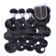 Wholesale 8A 9A 10A cheap brazilian human hair weave with closure