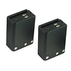 Hitech - 2 Pack of KNB-12A Replacement Batteries for Some Kenwood TK-250, TK-259, TK-350, TK-353, TK-355, TK-359, TK-430, and TK-431 2-Way Radios (Ni-MH, 1900mAh)