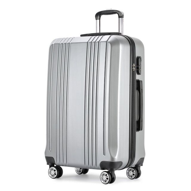 ABS 4 wheels hand carry luggage/suitcase,3 pcs set Trolley Luggage Bag