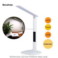 4W led folding table lamp/led desk lamp with led Display clock