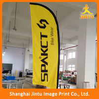 2016 wholesale high quality 110g knitted mesh outdoor advertising 3-6m pole feather banner /cheap printed