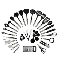 38Pcs Stainless Steel Silicone Utensils Pizza Set Cooking Home Kitchen Tools New