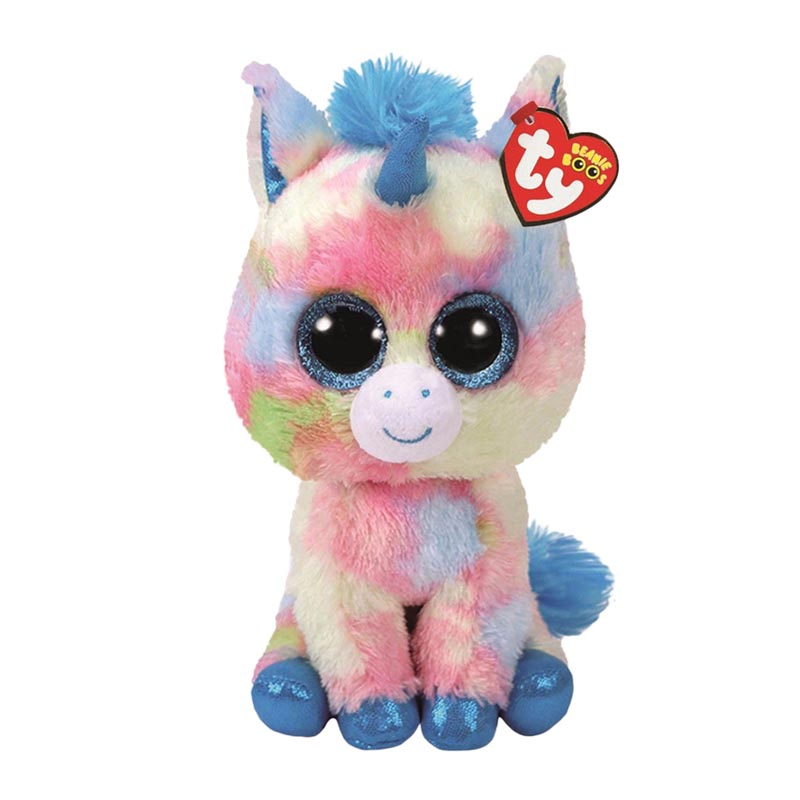 Big Eyes Plush Stuffed Animals New Ty Fantasia The Multi Color Unicorn Beanie Boos Stuffed Animal Plush Toy phone