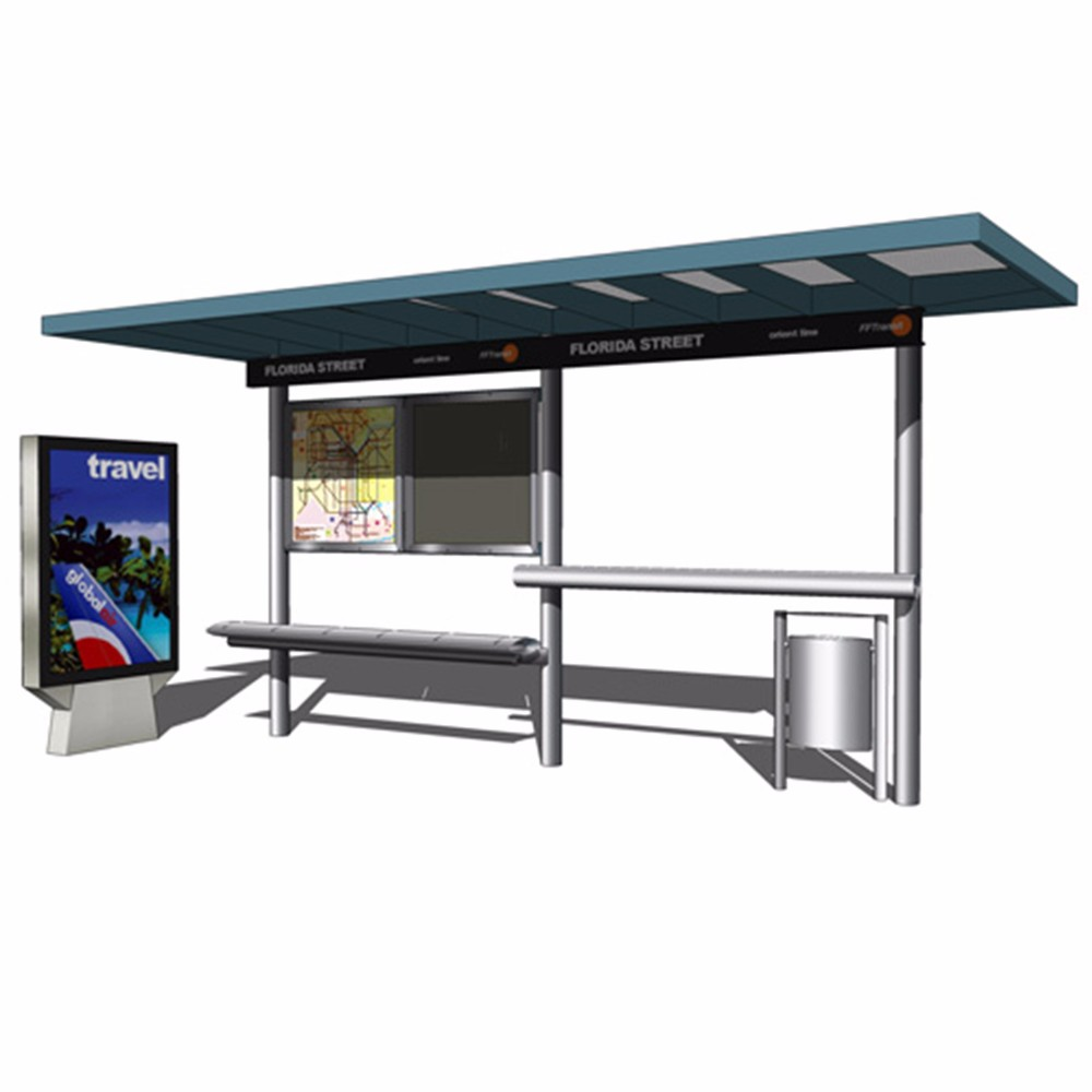 product-YEROO-Modern Popular Outdoor Advertising Bus Station High Quality Smart Bus Shelter-img-4