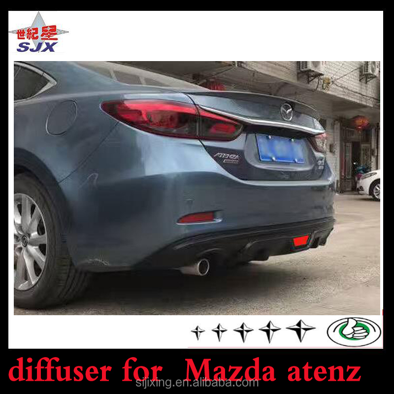 Car parts ABS unpainted rear lip for Mazda 6 atenz 2015+