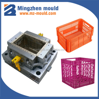 china huangyan injection square milk crate mould manufacturer