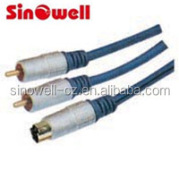 High Quality 2 RCA Plug to Mini 4pin cable