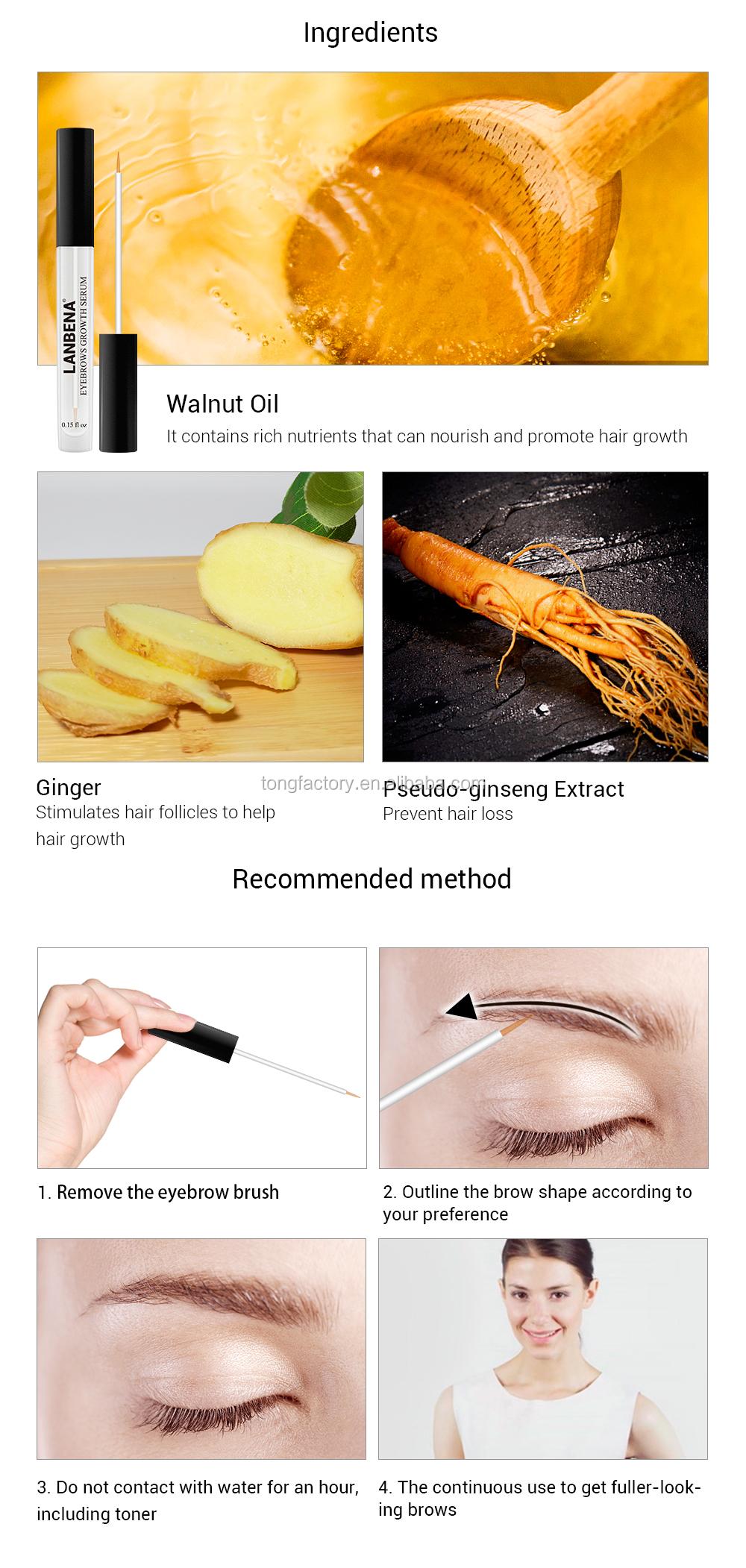 Lanbena 100% Natural Eyelash Eyebrow Enhancer Eyebrow ...