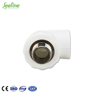 China thread ppr pipe fitting 90 degree threaded customized male elbow