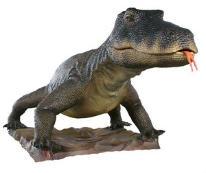 New design themepark equipments animatronic Komodo Dragon