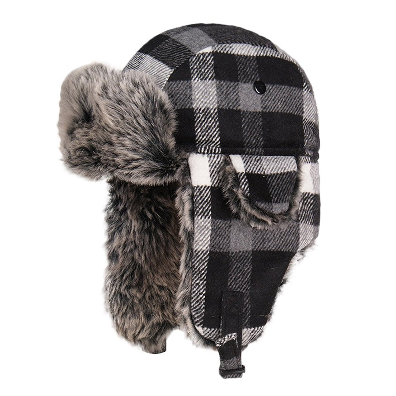 Bangni Winter Trooper Trapper Hunting Faux Fur Hat Ear Flaps Aviator Snow  Cap 5fb400c18f62