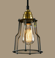 Modern Industrial And Iron line Art Pendant lighting