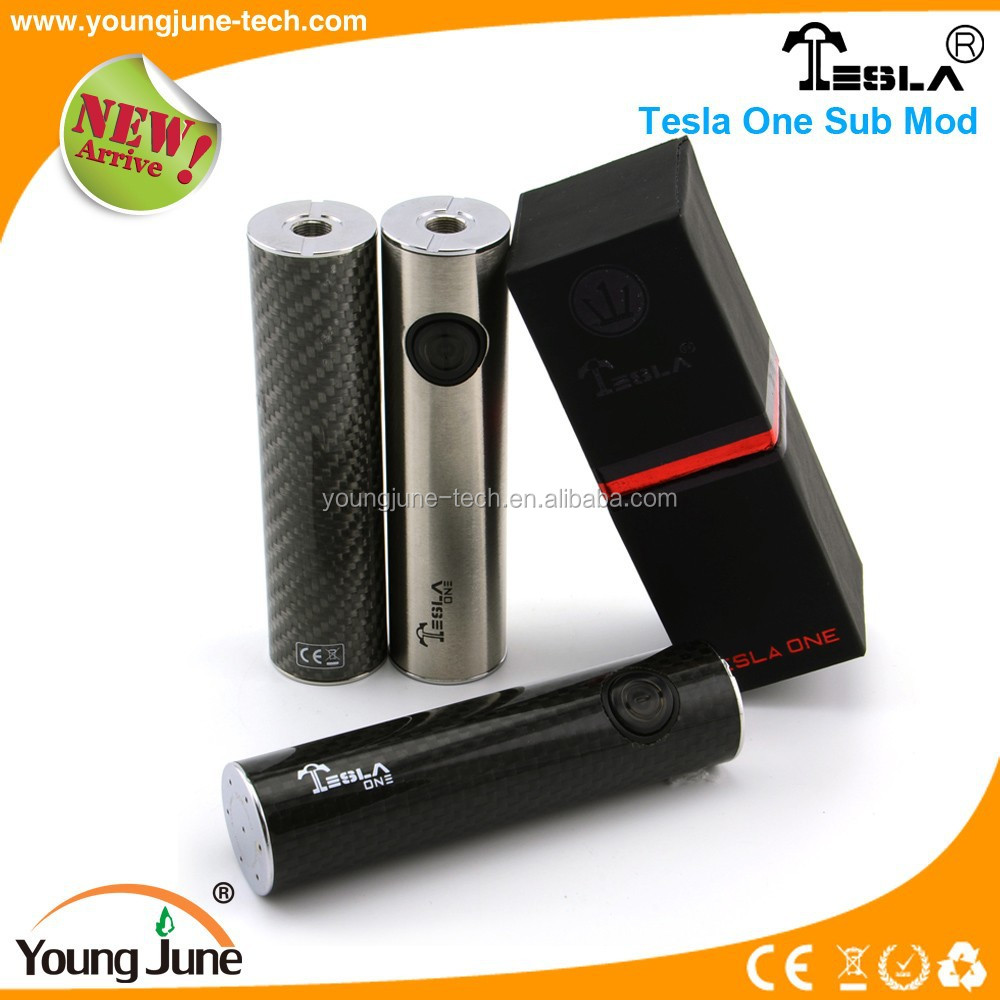 2015 Tesla one sub mod mod Tesla vape tube mod from Youngjune ecig manufactory